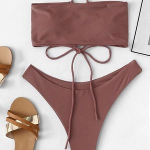 TRENDY never before worn trendy burgundy bikini!